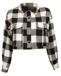 MISSGUIDED CHECK CROP SHIRT
