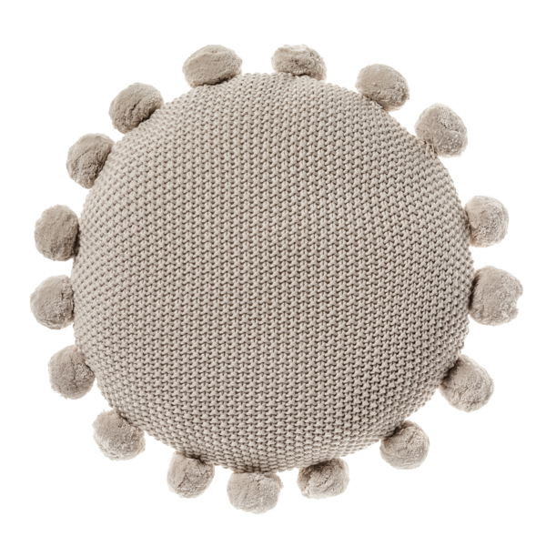 ADAIRS POM POM ROUND CUSHION